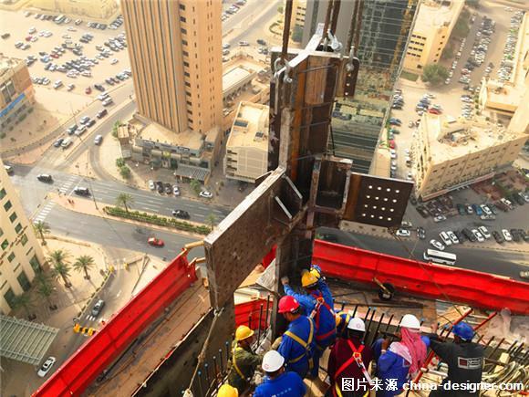 中国建筑承建科威特单体钢结构300米第一高楼开始
