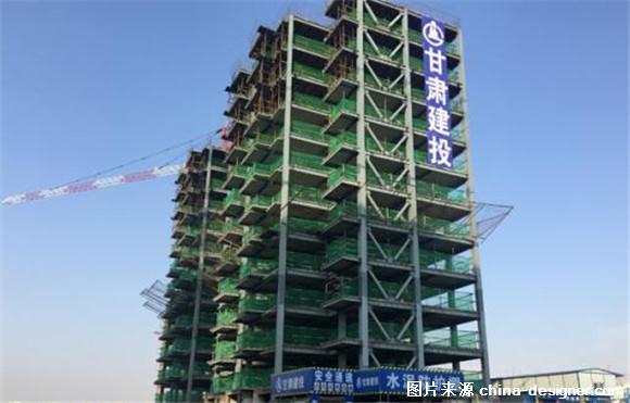 甘肃首座钢结构住宅主体封顶
