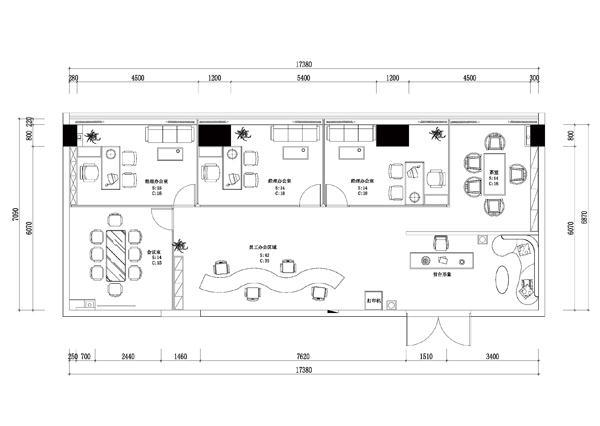 欧式会所平面设计图