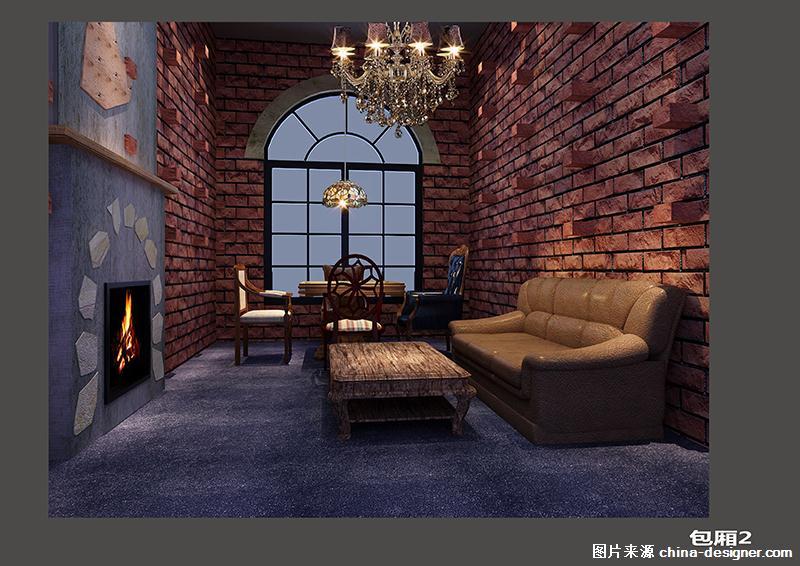 风格:复古 设计师:黄顺 材料:红砖,木板,钢筋,水泥地板,玻璃,干树,锈