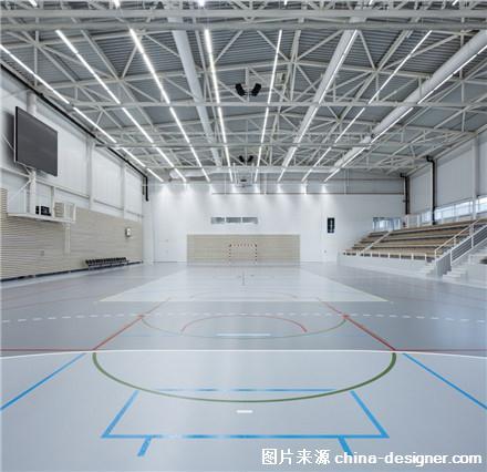 捷克Kuim体育馆,色调黑白小城里的黑白体育馆滑翔机篮球图片