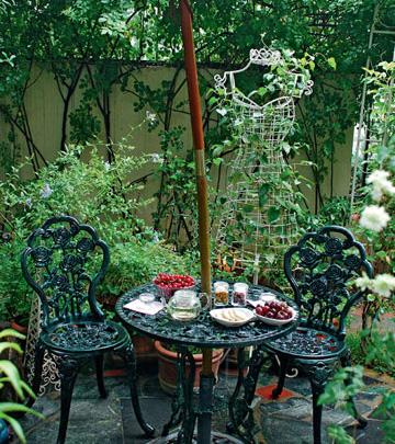 60平的花园 60平的绿影婆娑