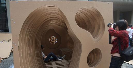 同济大学组图建筑大赛创意无限(城墙)-设计资纸板如何设计图图片