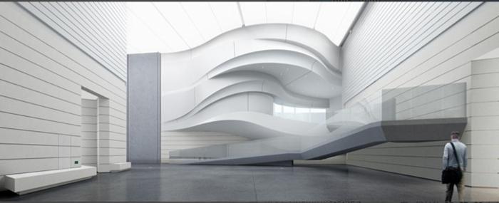 银川当代美术馆位于黄河之滨,waa在创作中拒绝机械化的设计手法,他们图片