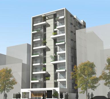 "Oli Mahmud在巴基斯坦达卡设计""绿色阳台阵列""公寓楼"