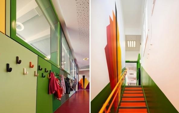 宿舍楼梯手绘效果图